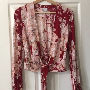 Flowing, front-tie blouse from Urban Outfitters